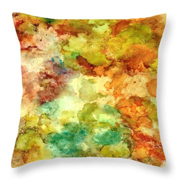 Fall Bouquet Throw Pillow by Rosie Brown