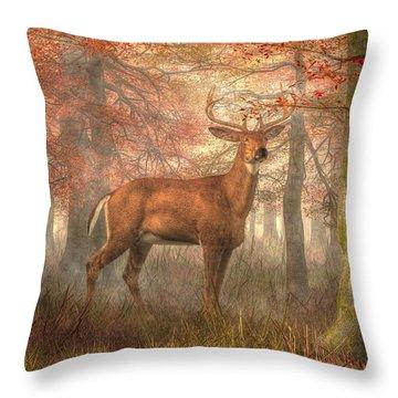 Fall Buck Throw Pillow