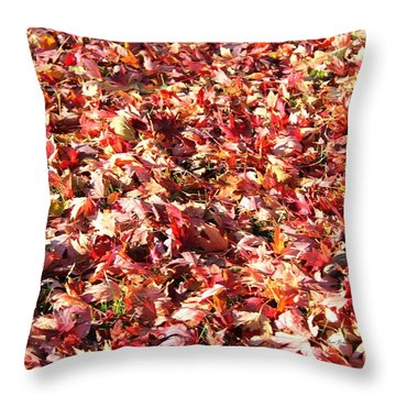 Throw Pillow featuring the photograph Fall Carpet by Yumi Johnson