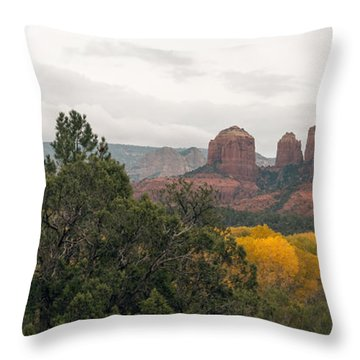 Fall Color Sedona 0495 Throw Pillow