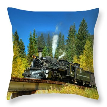 Fall Colored Bridge Throw Pillow by Ken Smith