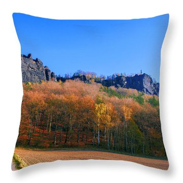 Fall Colors Around The Lilienstein Throw Pillow