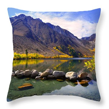 Fall Colors At Convict Lake  Throw Pillow