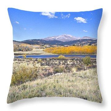 Fall Colors Fairplay Colorado Throw Pillow