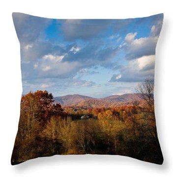 Fall Colors North Carolina Mountains Throw Pillow by John Pagliuca