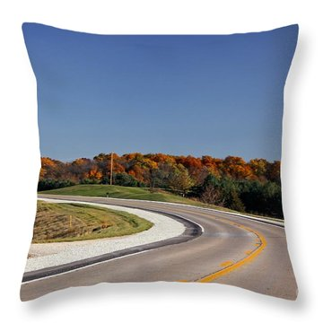 Fall Colors Of Iowa Series 3 Throw Pillow by Yumi Johnson