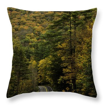 Fall Colors On Mohawk Trail Near Charlemont Throw Pillow