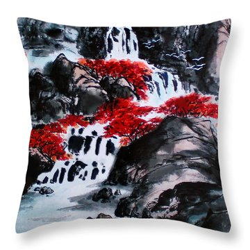Fall Colors Throw Pillow by Yufeng Wang