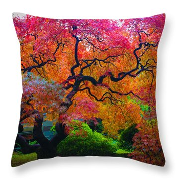 Fall Crowning Glory  Throw Pillow by Patricia Babbitt
