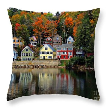 Fall Days Throw Pillow