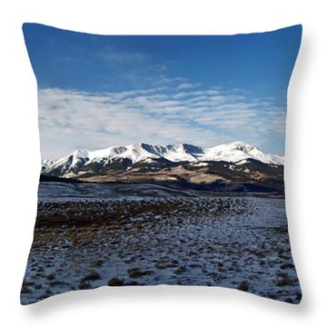 Fall Ends Panorama Throw Pillow by Jeremy Rhoades