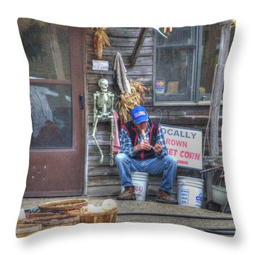 Fall Farmer's Market Throw Pillow