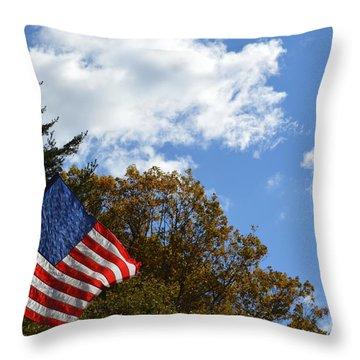 Fall Flag Throw Pillow