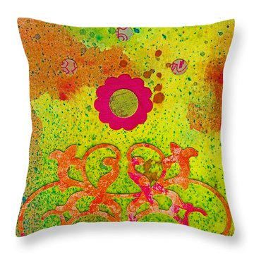Fall Flowers Throw Pillow by Desiree Paquette