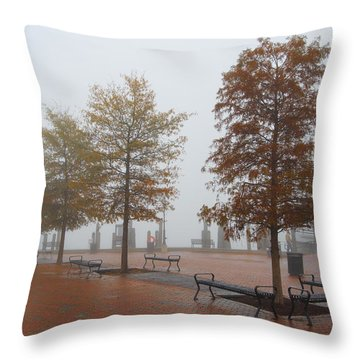 Fall Fog Throw Pillow by Jennifer Casey