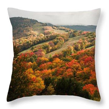 Fall Foliage On Canon Mountain Nh Throw Pillow