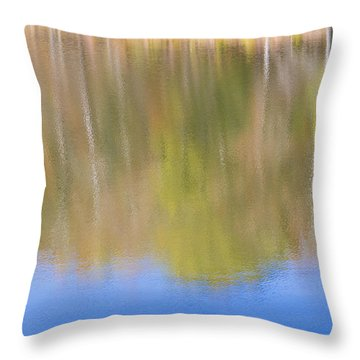 Fall Foliage Reflected In Lake Throw Pillow