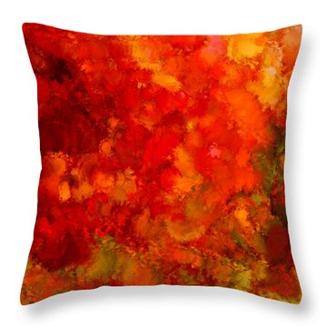 Fall Frolic Throw Pillow