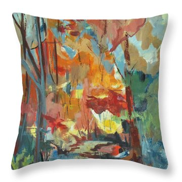 Fall From My Window Throw Pillow