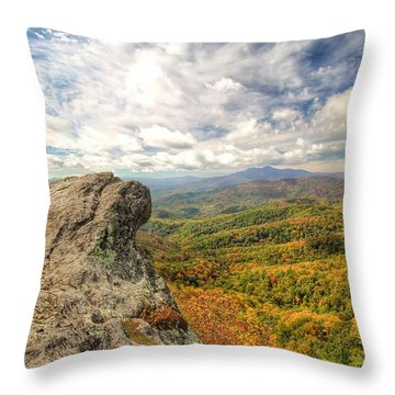 Fall From The Blowing Rock Throw Pillow