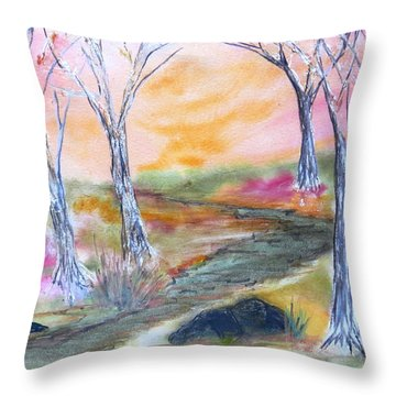Fall Glow Throw Pillow