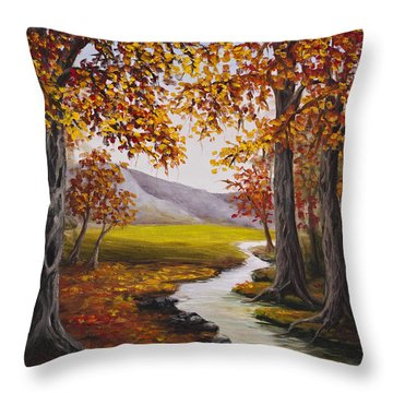 Fall Has Arrived  Throw Pillow