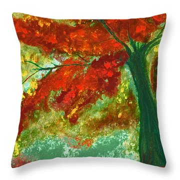 Fall Impression By Jrr Throw Pillow by First Star Art