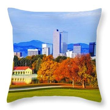 Fall In Denver Colorado Throw Pillow