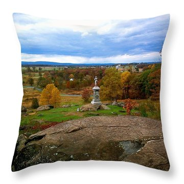 Fall In Gettysburg Throw Pillow