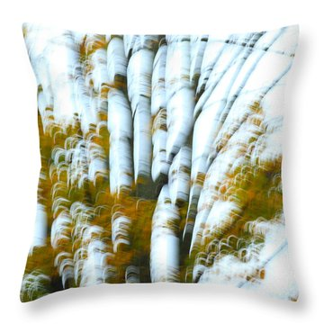 Fall In Motion Throw Pillow by Karol Livote