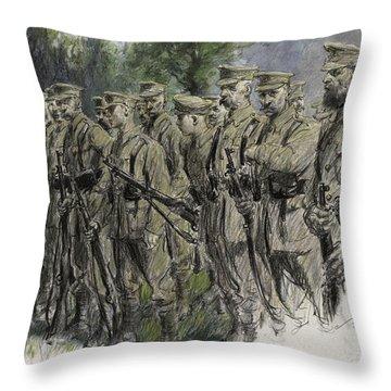 Fall In Norfolk Volunteers Throw Pillow by Frank Gillett