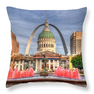 Throw Pillow featuring the photograph Fall In St. Louis by Deborah Klubertanz