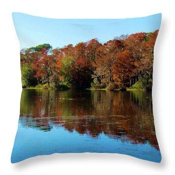 Fall In The Air Throw Pillow