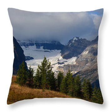 Fall In The Mountains Throw Pillow by Cheryl Miller