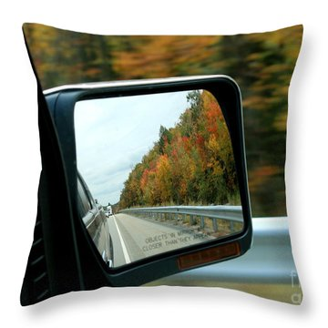 Fall In The Rearview Mirror Throw Pillow