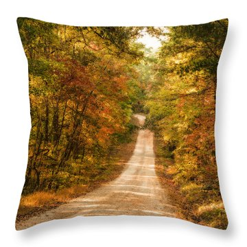 Fall Into Autumn Throw Pillow