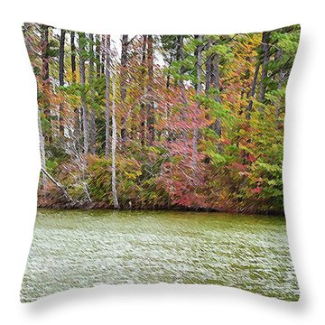 Fall Landscape 2 Throw Pillow by Lanjee Chee