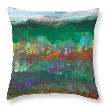 Fall Landscape Abstract Throw Pillow