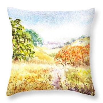 Fall Landscape Briones Park California Throw Pillow