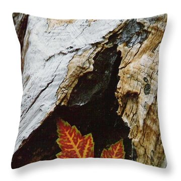 Fall Leaf Throw Pillow