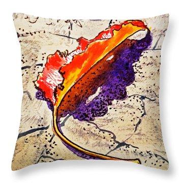 Fall Leaf Sketchbook Project Down My Street Throw Pillow by Irina Sztukowski