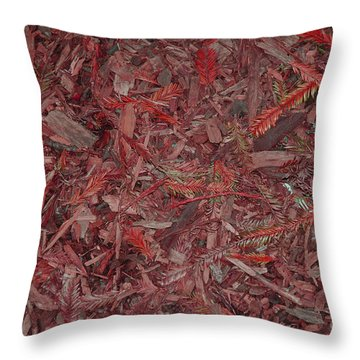 Throw Pillow featuring the photograph Fall Leaves by Mini Arora