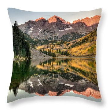 Fall N Reflections Throw Pillow