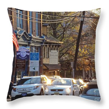Fall On Bridge Throw Pillow