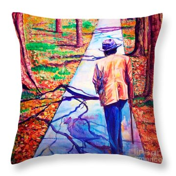 Fall On Highway 98' Throw Pillow