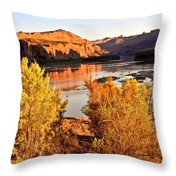 Fall On The Colorado Throw Pillow by Marty Koch