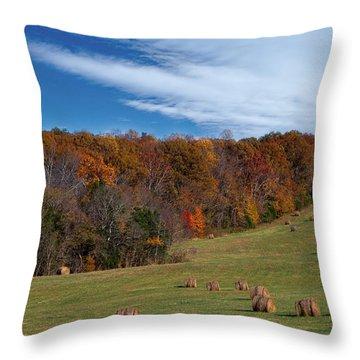 Fall On The Farm Throw Pillow