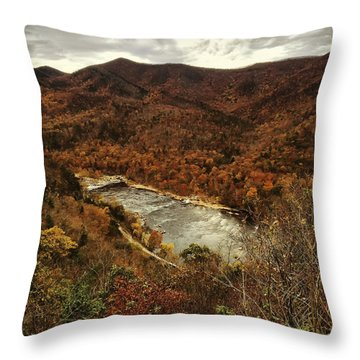 Fall On The Maury Throw Pillow