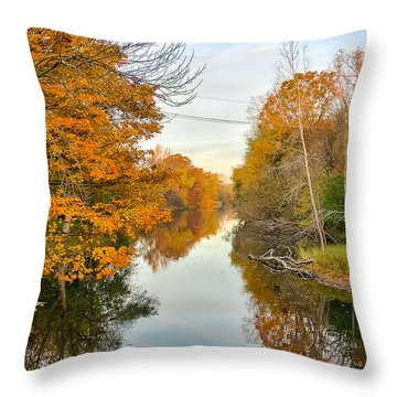 Fall On The Red Cedar  Throw Pillow