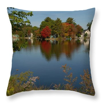 Throw Pillow featuring the photograph Fall Reflection by Caroline Stella